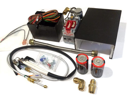 """Pilot: Non-Standing Pilot On-Demand System: Pilot On-Demand System Power: 2-D Cell Battery Electronic Ignition Design:  Assembly:  Operations: On/Off Operations ONLY Max Inlet 14"""" W.C. Valve: Valve Temp Rating 175° NG: (NG) 3""""-7"""" W.C. 88,000 BTU's LP: (LP) 8""""-14"""" W.C. 110,000 BTU's Valve Breakdown"""