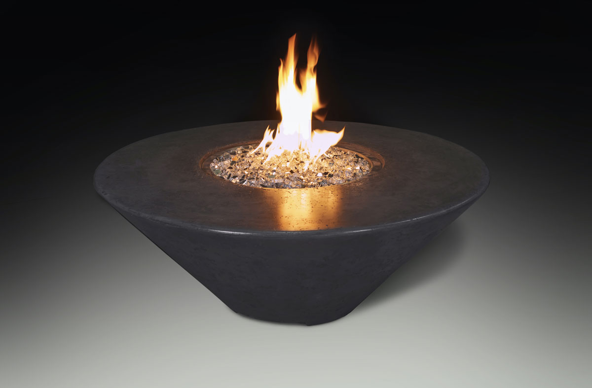 Fire Table Round Charcoal Black