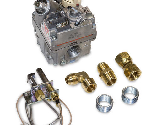 """Pilot: Standing Pilot System On-Demand System: Standing Pilot System Power:High Volume Output Millivolt System Design:  Assembly:  Operations: On/Off Operations ONLY Max Inlet 14"""" W.C. Valve: Valve Temp Rating 175° NG:(NG) 3""""-5"""" W.C. 370,000 BTU's LP:(LP) 8""""-12"""" W.C. 560,000 BTU's Valve Breakdown"""